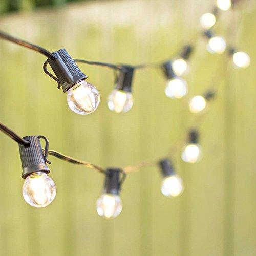 LED Globe String Lights G30 Bulb 100 ft Black C9 Strand Warm White