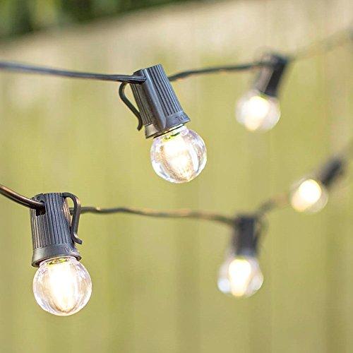 LED Globe String Lights G30 Bulb 25 Ft Black C9 Strand Warm White