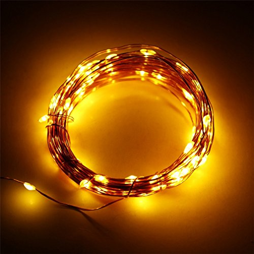 Er Chentmindoor And Outdoor Waterproof Battery Operated 120 Led String Lights On 20 Ft Long Ultra Thin Copper