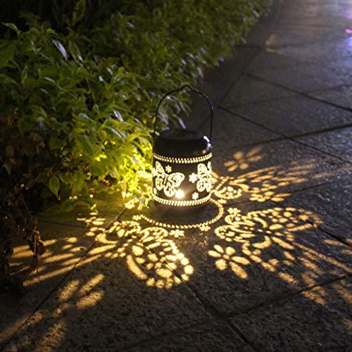Gallity Solar Lantern Outdoor Hanging Solar LED Lights Decorative Hanging Light for Patio Courtyard Garden
