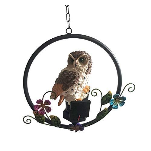 Pannow Solar Garden Light - Owl Shaped Outdoor Waterproof Decorative Hanging Light for Pathway Yard Patio Decor Tree Beach Pavilion Lights