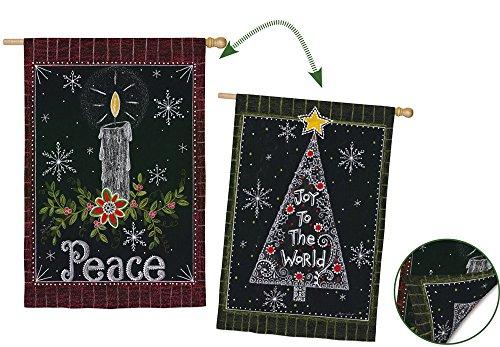 Evergreen Enterprises 13S3526FB Peace Candle Garden Flag