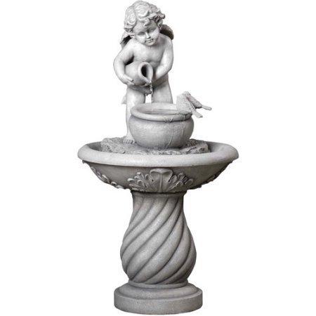 Cherub Fountaindurable handmade and hand painted lightweight weather resistant