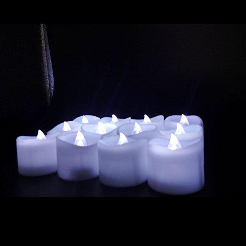 Yuren Flameless Tea Light Flickering Irregular Wave LED Battery Tea light Candles 1714 inch