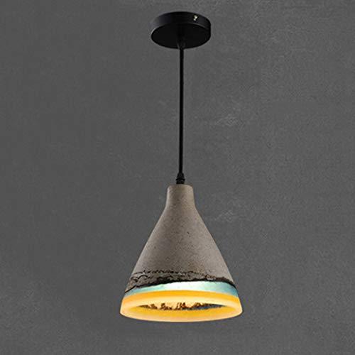 Rustic Pendant Light Ceiling Lamp Fixture Bar Counter Restaurant Tea Room Cafe Hanging Lamp Barn Pendant Light Farmhouse Cement SpliceGray