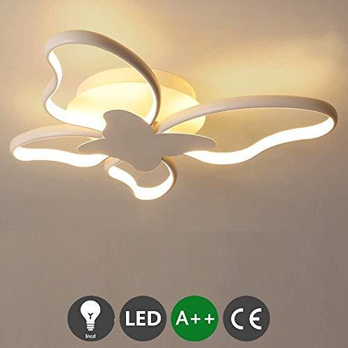 HZC LED Ceiling Light 56W Modern Acrylic Chandelier Living Room Lamp Study Office Ceiling Lighting for Dining Hallway Living Kitchen Bedroom Room