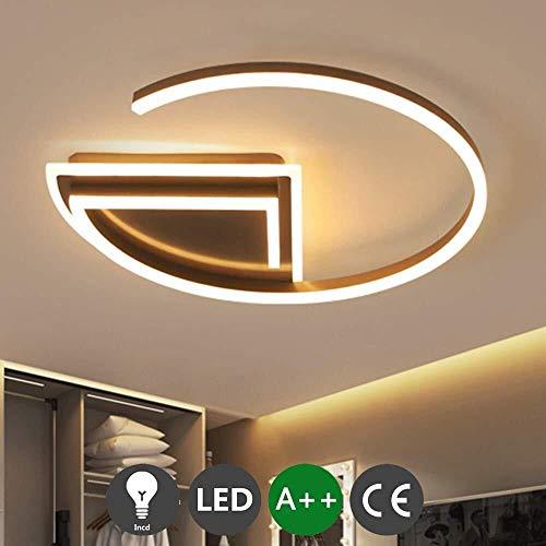 HZC LED Ceiling Light Bedroom Modern Living Room Lamp Brown Rings Lamp Ceiling Lighting for Dining Hallway Living Kitchen Bedroom Room Color  Warm Light