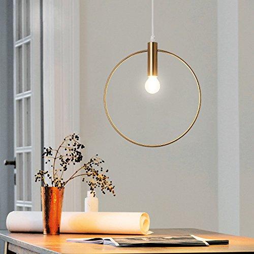 JinYuZe 1-Light Metal Golden Ring Pendant LightE12 Indoor Dining Lighting