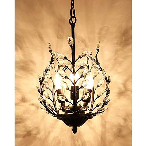 MXYXN Modern K9 Crystal Raindrop Chandelier Lighting LED Ceiling Light Fixture Pendant Lamp for Dining Room Bathroom Bedroom Livingroom Color  B