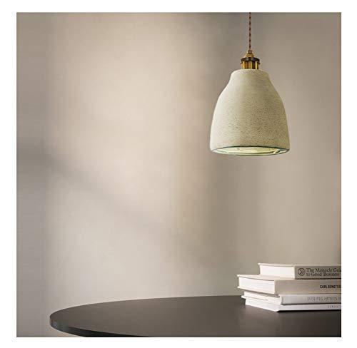 HN Lighting Chandelier Aisle Study Simple Single Headlights - Cement Color - Kitchen Bar Retro Ceramic Pendant Lights