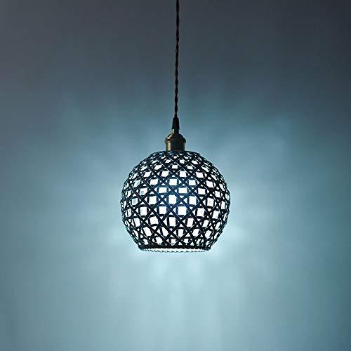 Radciy Postmodern Handmade Ceramic Pendant Light E27 Creative Nordic Hanging Lamp Modern Metal Brass Chandelier Indoor Restaurant Decoration Ceiling Light Color  Blue