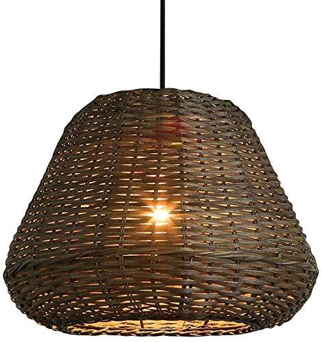 Bamboo Lights Rattan Chandelier,Southeast Asia Pendant Lamp Retro Light Fixtures Wicker Light Fixtures Chandelier Dinging Room Ceiling Lamp Farmhouse Pendant Light YZPDD Color  Warm Light