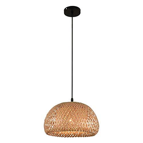 Berlato Tropical Bamboo Chandelier Retro Light Fixtures Wicker Light Fixtures Chandelier Dinging Room Ceiling Lamp Farmhouse Pendant LightDIY Wicker Rattan Shades Weave LampBrown