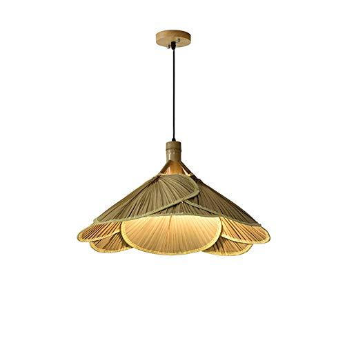 Fan Bamboo Lights Rattan Chandelier Pendant Lamp Retro Light Fixtures Wicker Light Fixtures Chandelier Dinging Room Ceiling Lamp Farmhouse Pendant LightE27 YZPDD