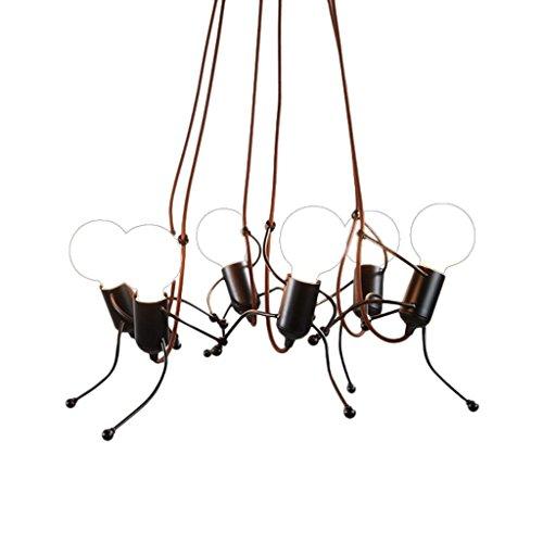 LQ Creative Personality Simple And Modern Living Bedroom Bedside Lamp Art Villa Corridor Light Girl Room Chandelier E27 chandelier