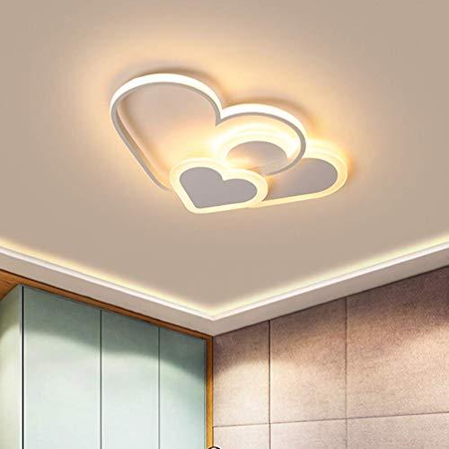 Wzqwzj LED Bedroom Lamp Ceiling Lamp Warm Romantic Acrylic Screen Kids Room Girl Room Chandelier