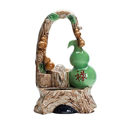Desktop Electric Water Fountain Decor - Indoor Water Fountain with Nebulizer - Ceramics Zen Feng Shui Ornaments - Ideal BirthdayAnniversaryWedding Present