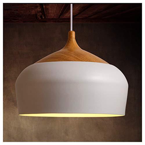 YHValuable Pendant Lights 1- Light Pendant Light Modern Style White with Metal Shade in Vintage Industrial Edison Chandelier -Lighting Ceiling Fans Color  30cm