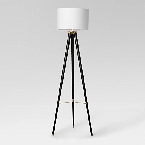 Delavan Tripod Floor Lamp - Project 62 Black Lamp with Energy Efficient Light Bulb