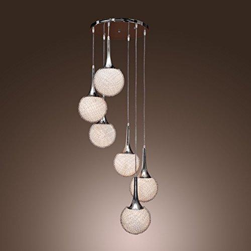 Lightinthebox Pendant Light Chandelier With 6 Lights In Globe Shape Modern Flush Mount Ceiling Light Fixture Lamp