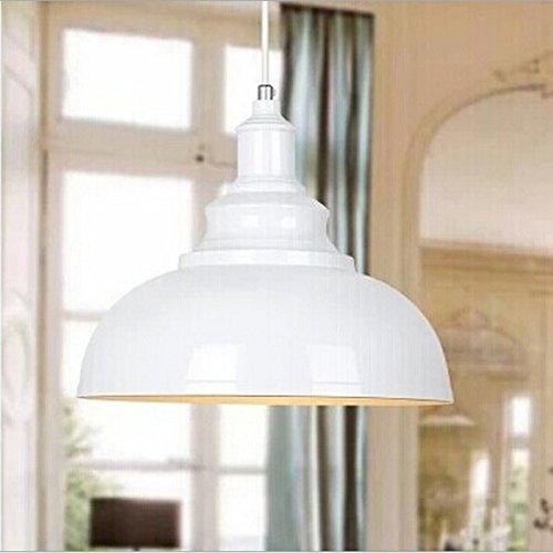 WinSoon 1PC Modern Style Metal Ceiling Lamp Wall Vintage Loft Pendant Light Retro Industrial White