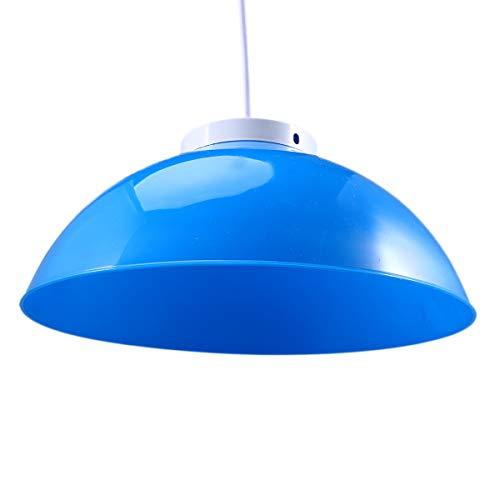 2pcs Pendant Lamp Shapes Plastic Ceiling Light Covers for Hallway Corridor Kitchen Cafe Blue