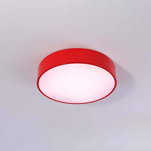 QCKDQ Ceiling Light Cover Round Circleled Ceiling Lighting Fixture Modern Dimmable Flush Mount Ceiling Lighting Creative Lamp for Boys and Girls BedroomRed80cm