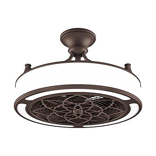 Anderson 22 in IndoorOutdoor Bronze ceiling fan with light