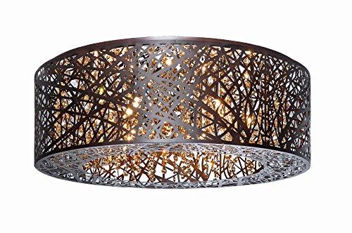 Maxim ET2 Lighting Flush Mount in Bronze Finishing - Metal Shade Indoor Ceiling Lamp - Modern Hanging Lighting Accessory Lighting Fixtures