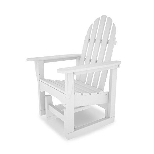 POLYWOOD ADSGL-1WH Classic Adirondack Glider Chair White