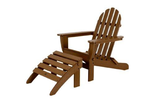 Polywood Pws136-1-te Classic 2-piece Adirondack Chair Set Teak
