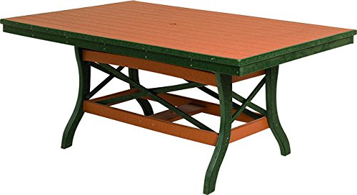 Poly Lumber Patio Furniture Set Including 1 Rectangular Table 60 with 2 Chairs and 2 Benches in Weathered Wood - Amish Made in USA