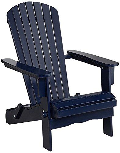 Monterey Blue Wood Folding Adirondack Chair