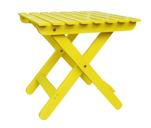 Shine Company Adirondack Folding Side Table Lemon Yellow