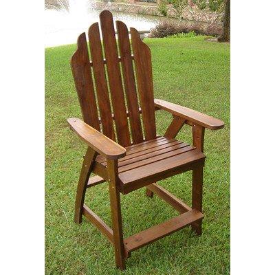 International Caravan Adirondack Bar Heigh Patio Chair