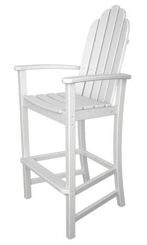 Polywood Adirondack Bar Height Chair White
