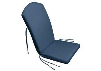 47 x 21 x 2 Adirondack Chair Cushion with Ties Sunbrella Sapphire Blue
