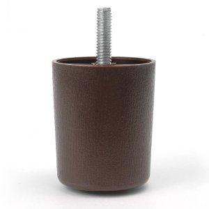 ProFurnitureParts 2 Inch Round Sofa Legs Dark Brown Set of 4 HDPE Plastic
