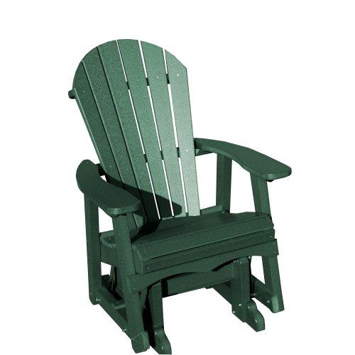 Vifah V1087-g Recycled Plastic Adirondack Glider Chair Green