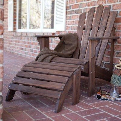 Coral Coast Adirondack Chairamp Ottoman - Dark Brown - 2-piece Set - Wit077