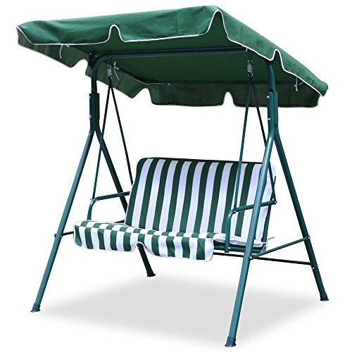 World Pride 2 Seater Green Outdoor Patio Garden Swing Cushioned Canopy Furniture Hammock