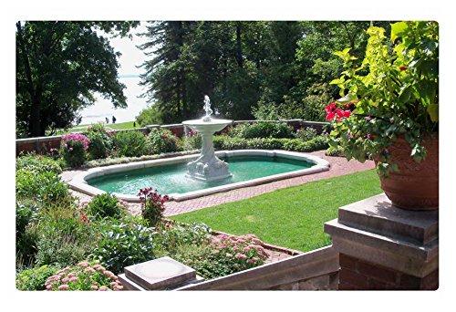 Irocket Indoor Floor Rugmat - Marble Fountain In The Gardens 236 X 157 Inches
