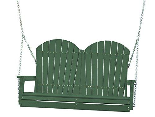 Furniture Barn USA Outdoor 4 Adirondack Swing - Green Poly Lumber - Recycled Plastic