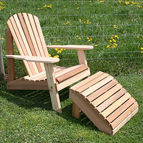 Creekvine Designs American Forest Cedar Adirondack Chairamp Footrest 2 Pc Set