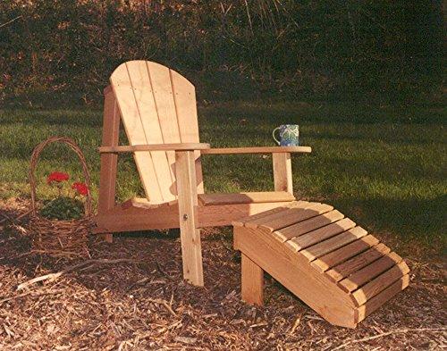 Creekvine Designs Cedar Adirondack Chair And Footrest Set