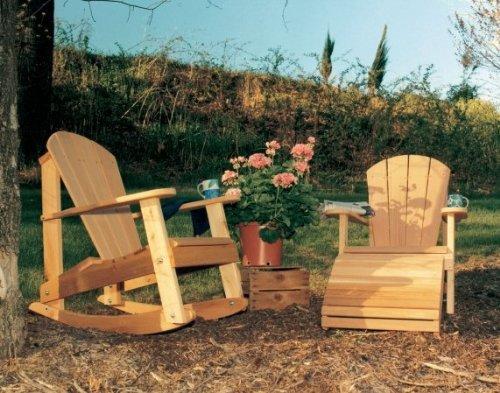 Creekvine Designs Cedar Adirondack Chair With Footrest And Rocker 3 Pc Set