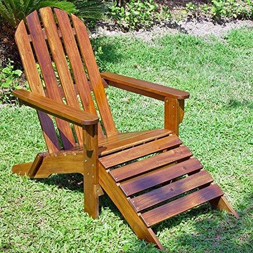 International Caravan Adirondack Lounger Chair With Footrest