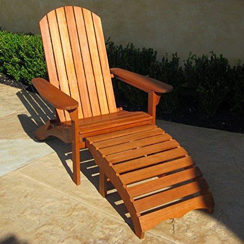 International Caravan Royal Tahiti Large Adirondack Chair With Footrest