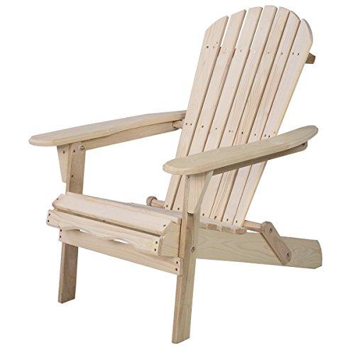 Giantex New Outdoor Foldable Fir Wood Adirondack Chair Patio Deck Garden Furniture