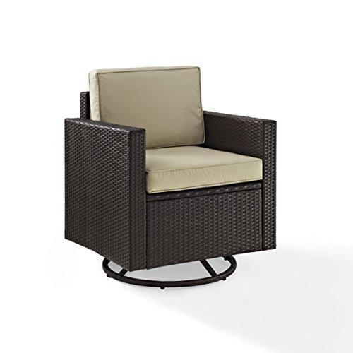 Crosley Palm Harbor Outdoor Wicker Swivel Rocker Chair Brown